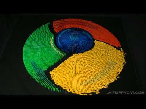 Google Chrominos - Google Chrominos - Google Chrome Icon Made From Dominos