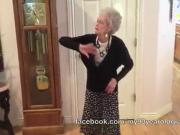 Granny 90 years dancing for Whitney Houston!