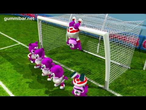 Gummibär  World Cup Soccer - Go For The Goal -  English Funny Gummy Bear USA United States