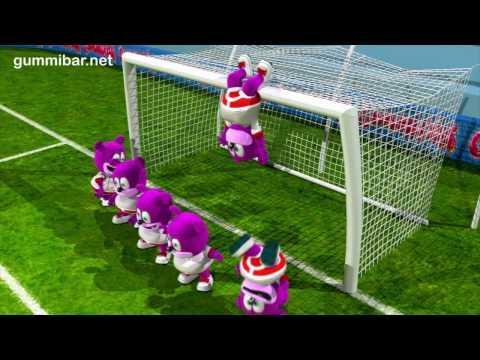 Gummibär  World Cup Soccer - Go For The Goal -  English Funny Gummy Bear USA United States