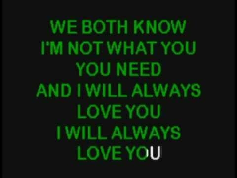 Whitney Houston - I Will Always Love You Karaoke