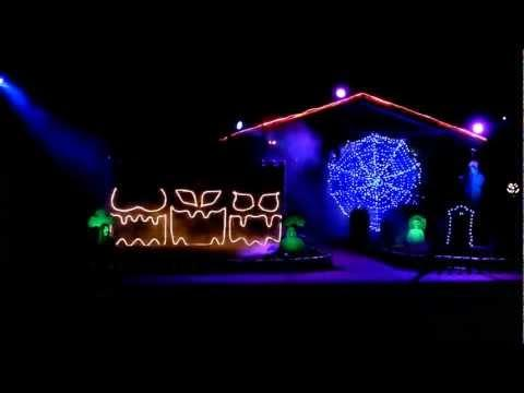 2011 Halloween Light Show - Diary Intro/Crazy Train