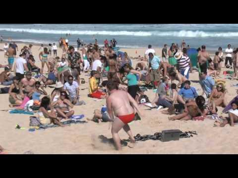Bondi Beach - Gets Flipped! Towel Surfing - Flip Video Flash Mob