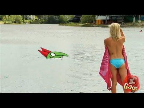 Just for Laughs TV - Stranded Sexy Topless Bikini Girl Shark Attack Prank