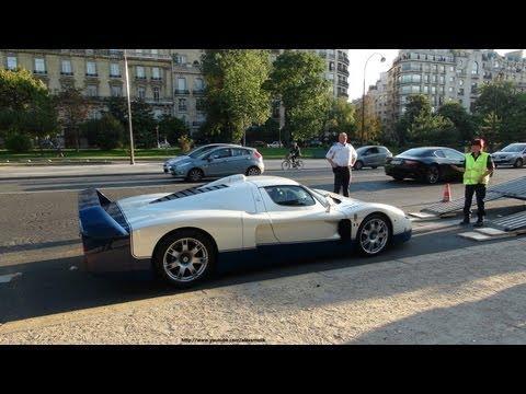 Maserati MC12 etc. seized by the police - Maserati MC12 + Aston Martin V8 V600 LM + Carrera GT seize