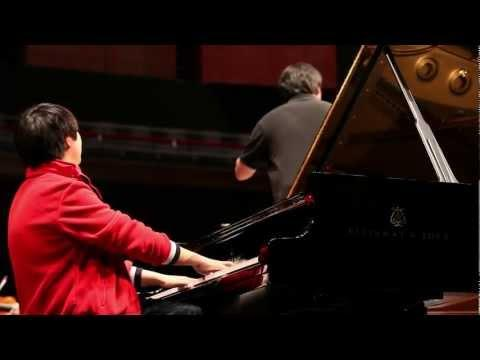 Lang Lang - Rehearses Tchaikovsky in Luxembourg, 02/04/12