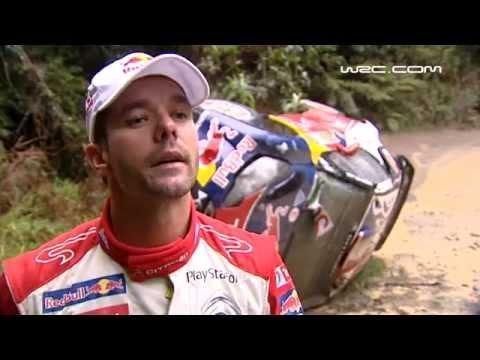 Sebastien Loeb - Crash and roll SS4 Rally Australia 2011