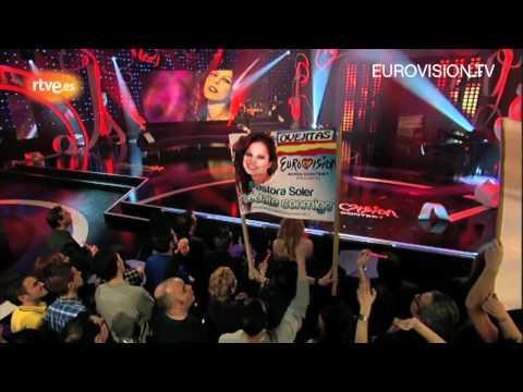 Pastora Soler - Quédate Conmigo (live performance) (Spain) 2012 Eurovision Song Contest