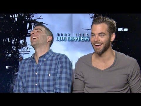 STAR TREK INTO DARKNESS - STAR TREK INTO DARKNESS Interviews: Pine, Quinto, Cumberbatch, Saldana, Pe
