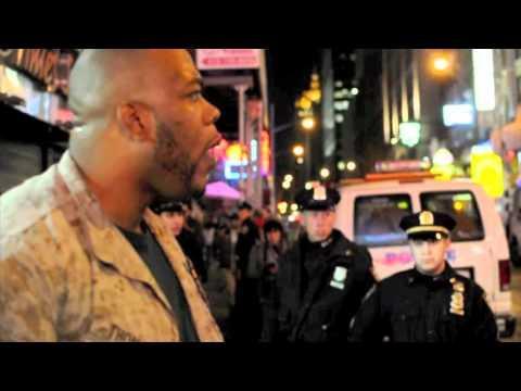 United States Marine Corps - [Occupytimessquare] 1 Marine vs. 30 Cops (Marine Wins)