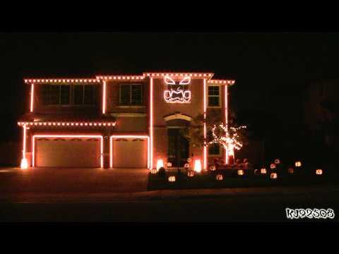 This Is Halloween - Halloween Light Show 2011