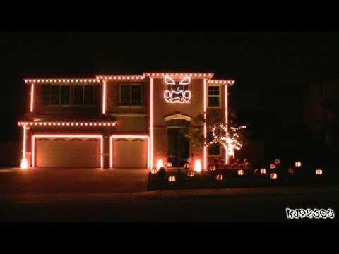 This Is Halloween - Halloween Light Show 2011