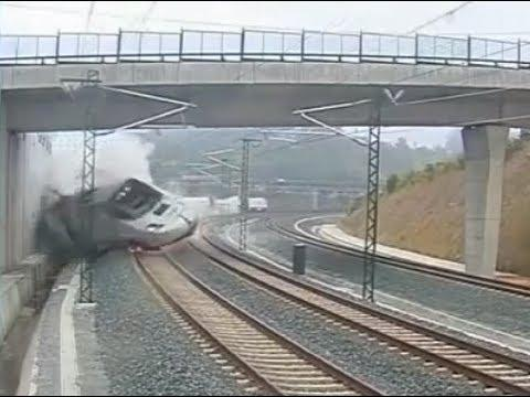 Accidente tren Santiago - Descarrilamiento del tren