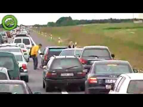 Autobahn - Autobahn schlägerei  auf dem Standstreifen